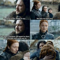 Sansa and Jon. Episode Season Game of Thrones. Sansa and Jon. Episode Season Game of Thrones. Game Of Thrones Facts, Got Game Of Thrones, Game Of Thrones Quotes, Game Of Thrones Funny, Kit Harington, Game Of Throne Lustig, Got Merchandise, Medici Masters Of Florence, Musicals