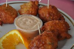 Conch Fritters - yumm bahamian food