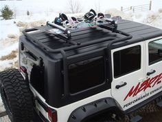 MBRP Off Camber Fabrication Roof Rack Carrier System - Jeep Wrangler JK 4dr - Truck Customizers