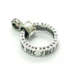 929db4f3e0b5 Chrome Hearts 925 Silver Fashion Pendant Fuck You Ring Style