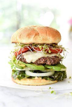 California-Style Bison Burger | foodiecrush.com