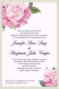 rose invitation - Google Search
