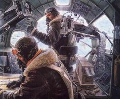 "B-17 Navigator and Bombardier. The navigator shared his ""office"" with the…"