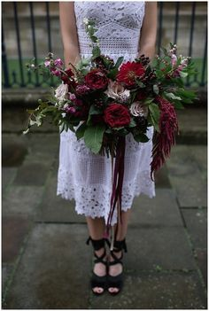 FLORAL MENAGERIE / NIKKI LEADBETTER PHOTOGRAPHY / The Wedding Collective alternative bridal market inspiration shoot cool girl bride chunky lace black shoes