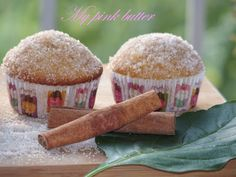 my pink butter: Muffins κανέλας με γεύση donuts