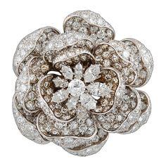 HARRY WINSTON ''Rose of England'' Diamond Brooch -