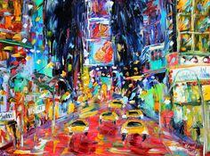 Original painting Times Square New York palette by Karensfineart, $145.00