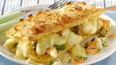Bladerdeegtaartje met asperges en zalm - hollandaise zelf maken natuurlijk !!!