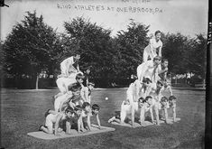 A Visual History of the Human Pyramid - Atlas Obscura Human Pyramid, Atlas, Italian Artist, Library Of Congress, New York Public Library, Museum Of Fine Arts, National Museum, The Good Old Days, Vintage Photographs