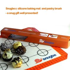 Silicone Baking Mat Set, Pastry Brush FREE eBook Healthy Baking Made Easy; 40 x 30 cm Top-Quality BPA-Free Non-Stick Easy-Wipe. Snugbe®: Amazon.co.uk: Kitchen & Home