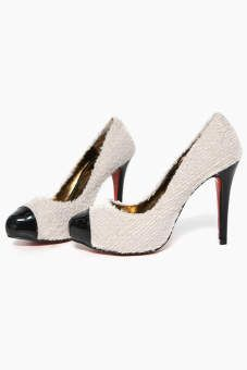 Patent Leather Toecap Plush High Heels for a business woman who takes her work and play seriously...and playfully :)