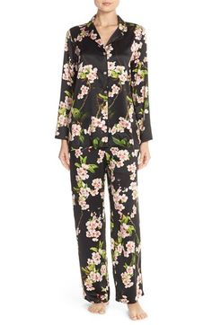 Natori 'Blossom' Floral Charmeuse Pajamas available at #Nordstrom