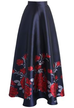 Peony Serenade Printed Maxi Skirt - New Arrivals - Retro, Indie and Unique Fashion