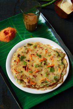 rava uttapam healthy indian breakfast