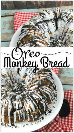 What could be better than Oreo Monkey Bread? The deliciousness of Monkey Bread paired with the yumminess of the classic favorite OREO cookie is the perfect dessert to bring to that family gathering or party with friends. This recipe is so easy! Just Desserts, Delicious Desserts, Dessert Recipes, Oreo Desserts, Awesome Desserts, Health Desserts, Scones, Croissants, Muffins