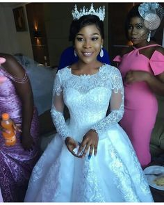 Blushing bride Dress by @bridesnmoreikeja