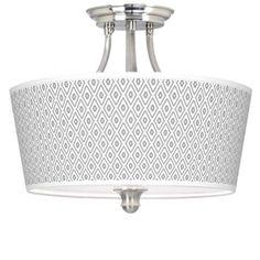 "Diamonds Giclee 16"" Wide Semi-Flush Ceiling Light - #N7956-4T519 | www.lampsplus.com"