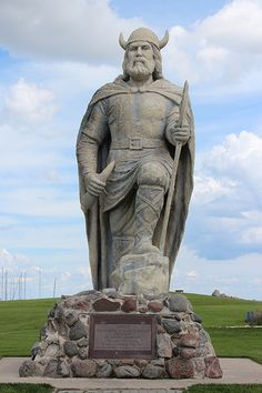 The Viking, Gimli, Manitoba. It's fitting that a town with the largest Icelandic population outside of Iceland boasts a 15-foot tall Viking statue. He stands by Lake Winnipeg as a monument to the first European explorers in Canada.