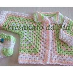 Crochet.....super easy baby sweater. Made from 2 granny Hexagons!!!!!!