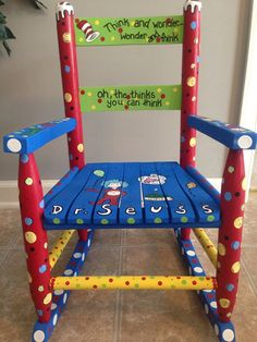 Dr.Seuss+Rocking+Chair+by+danapietraccini+on+Etsy,+$100.00