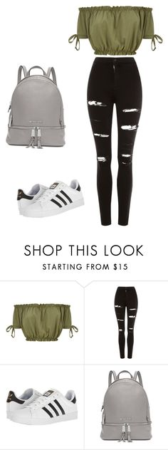"""Untitled #1"" by ally44-1 ❤ liked on Polyvore featuring Topshop, adidas and Michael Kors"