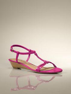 Talbots - Codi Braided T-Strap Sandal | New Arrivals | Medium
