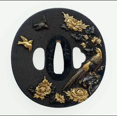 Tsuba with design of birds and flowers  Japanese, Edo period, mid-19th century…