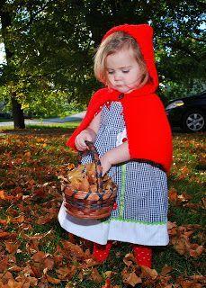 Vet School Widow: Little Red Riding Hood with Crochet Cape **Free Pattern** Toddler Halloween Costume