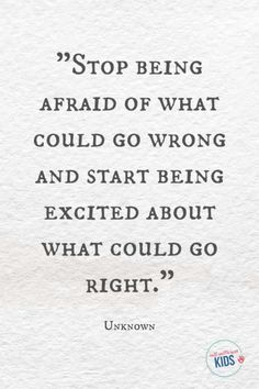 """Stop being afraid of what could go wrong and start being excited about what could go right."" - Unknown These growth mindset quotes will inspire both you and your kids to work hard not give up and to view challenges and failures as opportunities. Hard Quotes, Great Quotes, Quotes To Live By, Me Quotes, Funny Quotes, Not Giving Up Quotes, Quotes For Work, Give Up Quotes, Unique Quotes"
