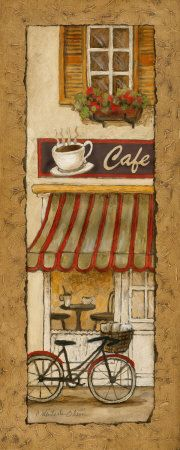 Cafe & Bistro Canvas Art and Posters at Art.com