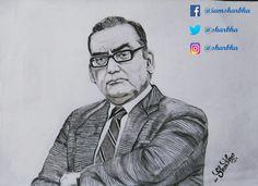 Pencil sketch on Honourable Justice Markandey Katju sir  Art by: Sharbhalakshmi Dakshinamurthy  Follow me on Insta,Twitter: @sharbha  Fb:@iamsharbha