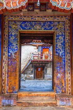 Jonathan Tanner A temple door in Jakar, Bhutan. - Jonathan Tanner A temple door in Jakar, Bhutan. Jonathan Tanner A temple door in Jakar, Bhutan. Bhutan, Cool Doors, Door Knockers, Doorway, Architecture Details, Historic Architecture, Stairways, Windows And Doors, Arches