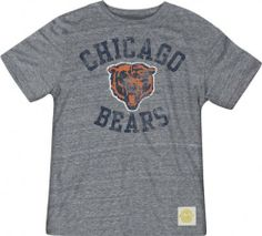 Chicago Bears Tri-Blend Gym Class T-Shirt by Retro Sport. $27.99. Incredibly soft tri-blend fabric for old school look. Machine washable 50% polyester/37.5% cotton/12.5% rayon blend provides the ultimate comfort. Officially licensed by the NFL. With worn in Chicago Bears style that looks like it was your everyday workout tee, this Chicago Bears Tri-Blend Gym Class T-Shirt will become an instant favorite. Features distressed full color screen printed graphic on the chest with j...