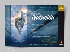 Flyer publicitario Escuelas Deportivas RACE - Natación
