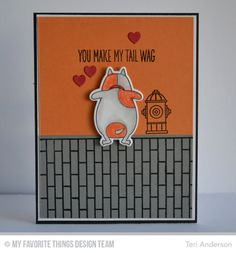 BB You Make MY tail Wag Stamp Set, BB You Make My Tail Wag Die-namics, Small Brick Background, Candy Jars Die-namics - Teri Anderson #mftstamps