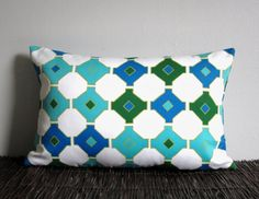 Retro Decorative Throw Pillow Cover Emerald by ainthatastitch Sofa Throw Pillows, Lumbar Pillow, Throw Pillow Covers, Emerald Green, Blue Green, Green Turquoise, Cobalt Blue, Vintage Colors, Vintage Green