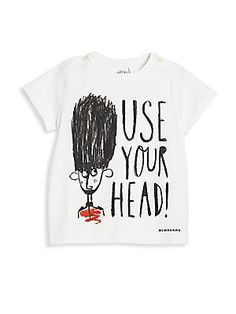 Burberry Baby's & Toddler Boy's Use Your Head Graphic Cotton Tee