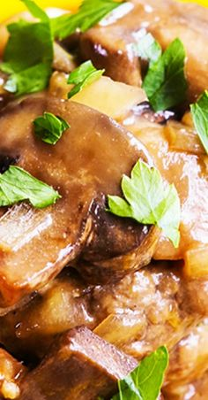 Low Carb Recipes To The Prism Weight Reduction Program Slow Cooker Salisbury Steak Hamburger Steak Recipes, Crockpot Recipes, Hamburger Steaks, Delicious Recipes, Easy Recipes, Crock Pot Slow Cooker, Crock Pot Cooking, Slow Cooker Recipes, Food Dishes