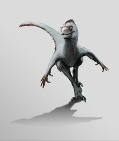 Cricket out hunting - Velociraptor mongoliensis by FabrizioDeRossi on DeviantArt