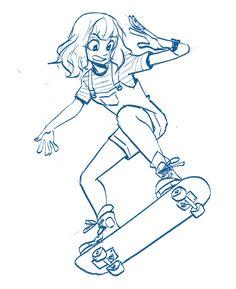 ✔ Drawing Of Girls Body Character Design Drawing Reference Poses, Drawing Poses, Drawing Art, Drawing Ideas, Manga Drawing, Drawing Tips, Cartoon Kunst, Cartoon Drawings, Cartoon Girl Drawing