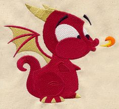 Baby Dragon | Urban Threads: Unique and Awesome Embroidery Designs