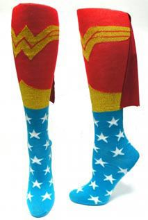 Wonder Woman cape socks for mom to rock at the party