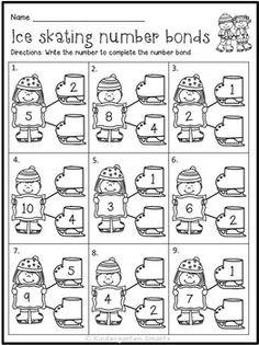 I am really excited about these new no prep winter printables I have created! These are great for morning work, small groups, seatwork, homework, assessments and just to reinforce certain literacy and math skills. The best thing about this packet is that Kindergarten Math Worksheets, Math Literacy, Guided Math, Homeschool Math, Kindergarten Classroom, Teaching Math, Math Activities, Math Education, Winter Activities