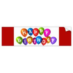 #Happy Birthday/n Bumper Sticker - #birthday #gift #present #giftidea #idea #gifts