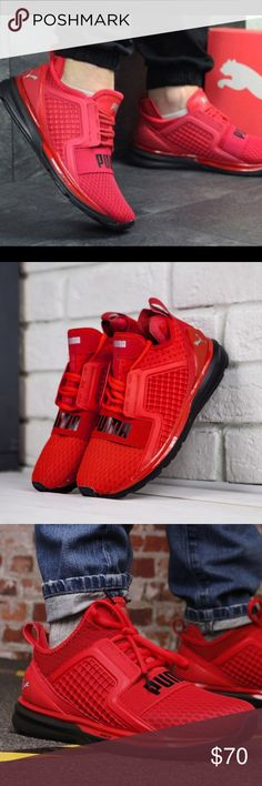 39646f0c8a84 Puma Sneakers Ignite Limitless In High Key Red 🔹worn a few times 🔹  scratches On