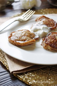 Оладьи с бананом. #sweet, #food, #banana, pancakes