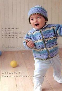 Ivelise Feito à Mão: Casaquinho E Touca Para Bebê Em Crochê