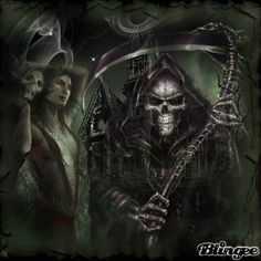Grim Reaper with Roses wallpaper | Scary Grim Reaper Pictures Watch out for the grim reaper!