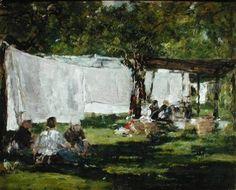 Eugène Boudin - Lessive à la ferme st-Siméon (Laundry at St-Siméon farm)