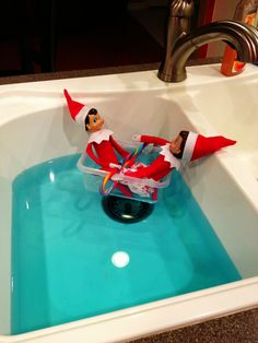 Elves like to take boat rides in the sink.  Want to take a boat ride or enjoy the outdoors - MWR Equipment Rental can help you with the gear you need.